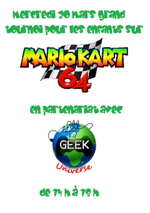 affiche tournoi mario 64